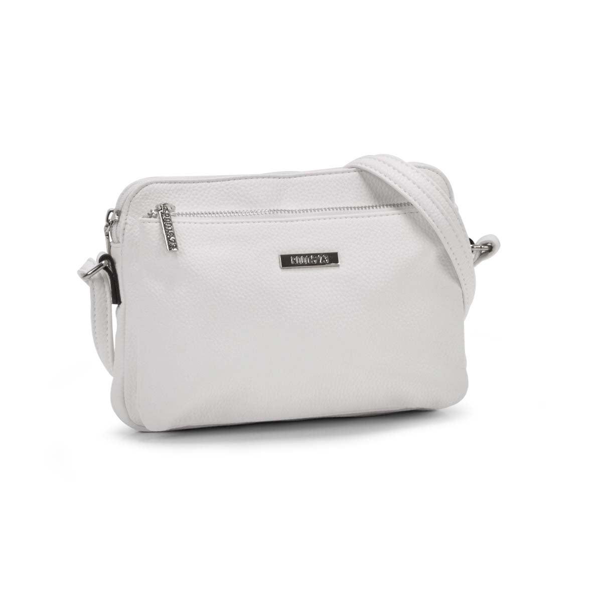 Women's R5200 EAST/WEST white crossbody bag