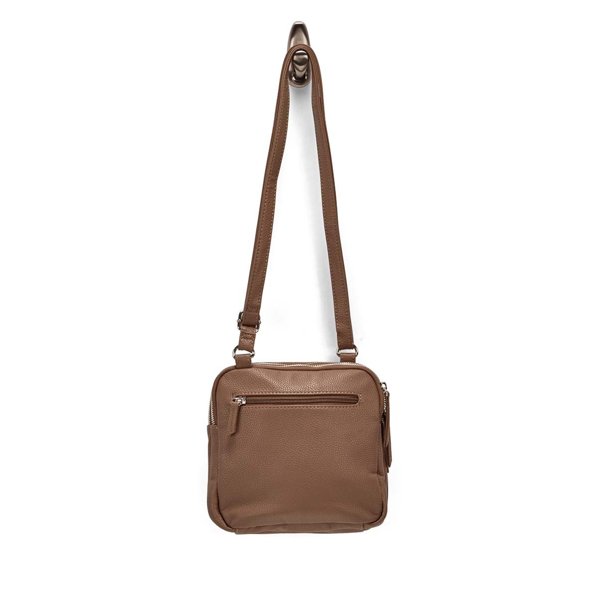 LdsRoots73 taupe 3 compartment crossbody