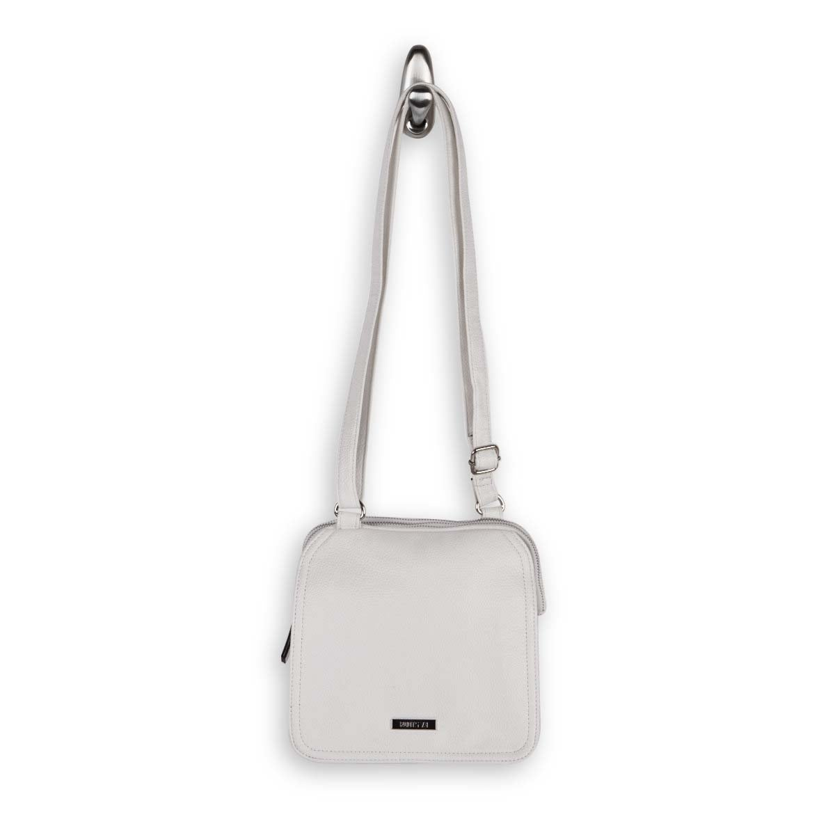 LdsRoots73 white 3 compartment crossbody