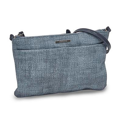 Roots Women's R5216 EAST/WEST blue cross body bag