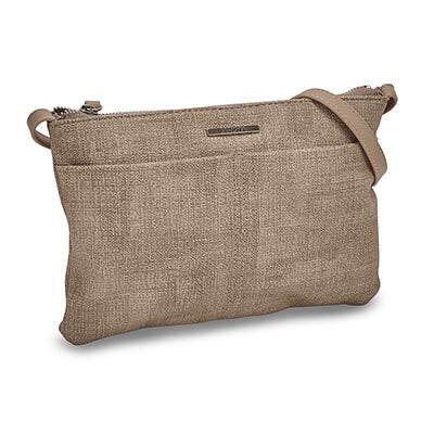 Roots Women's R5216 EAST/WEST taupe cross body bag