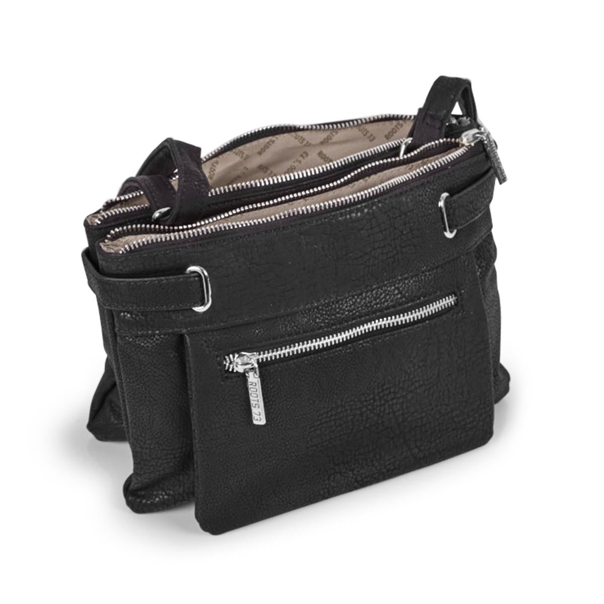 Lds black 2 compartment crossbody