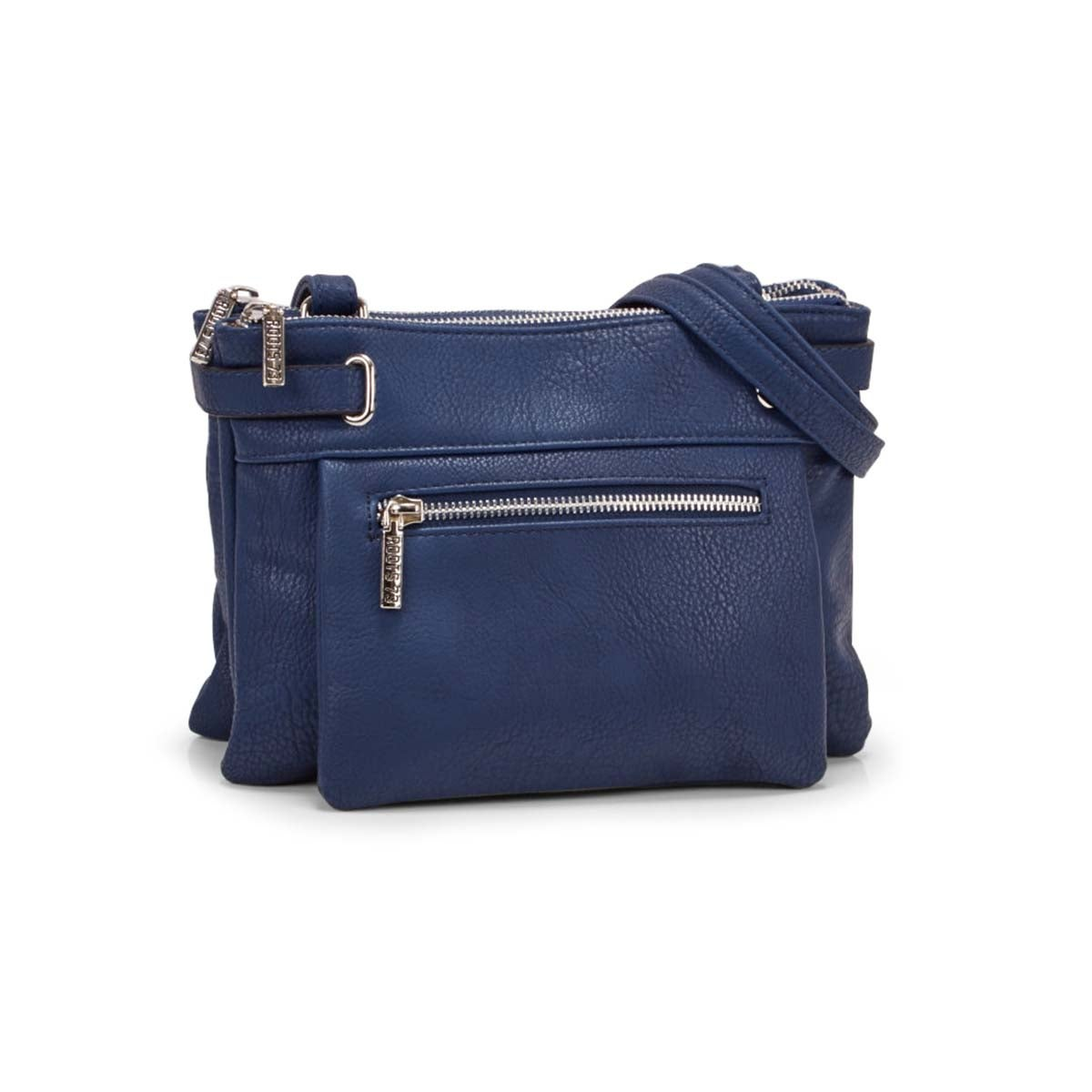 Lds navy 2 compartment crossbody