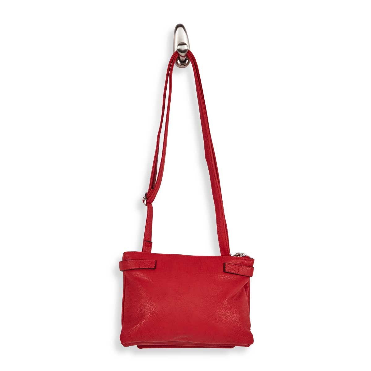 Lds red 2 compartment crossbody