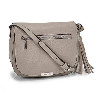 Roots Women's R5221 stone tassel flapover cross body