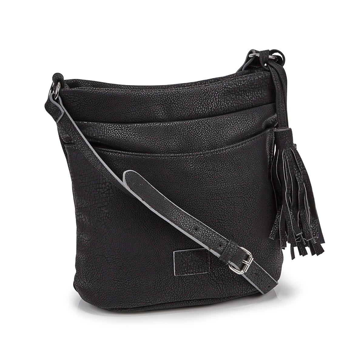 Women's R5224 black tassel hobo bag