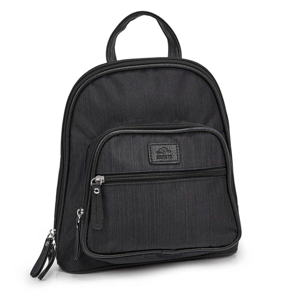Women's R5241 black mini backpack bag