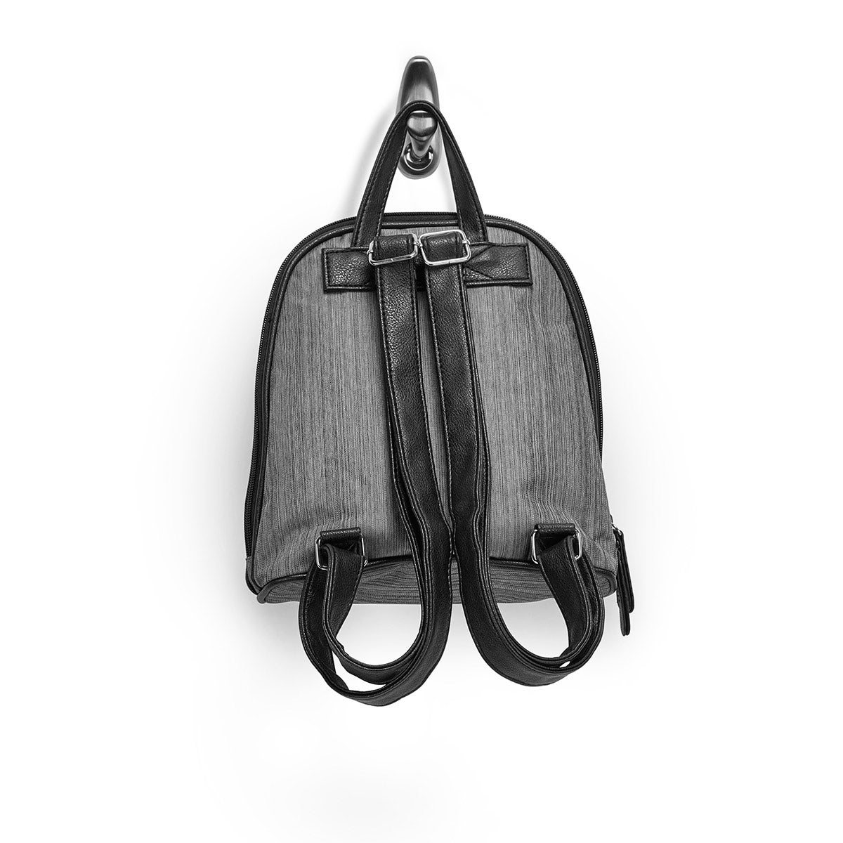 Lds gry double compartment mini backpack