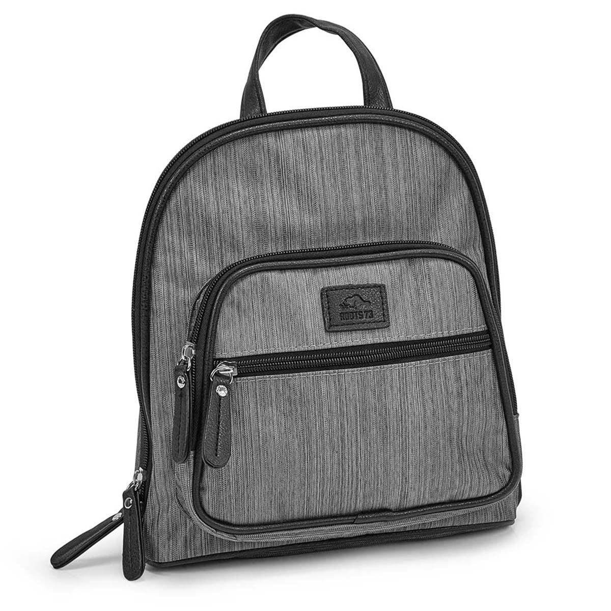 Women's R5241 grey mini back pack bag