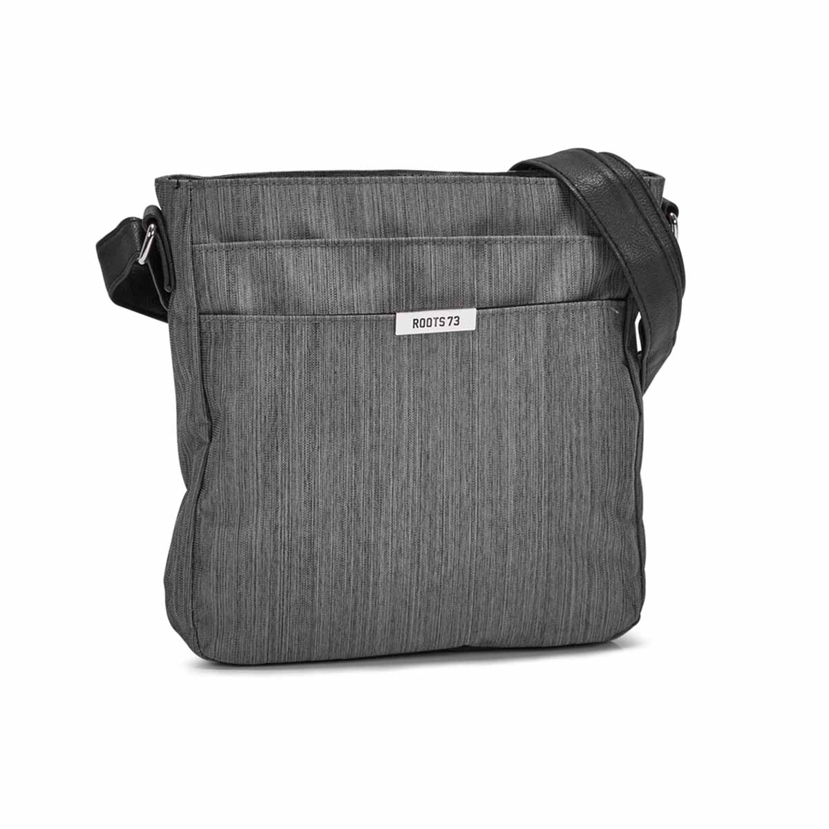 Women`s R5315 grey front pocket crossbody bag
