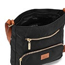 Lds Roots73 blk 2 front pocket crossbody