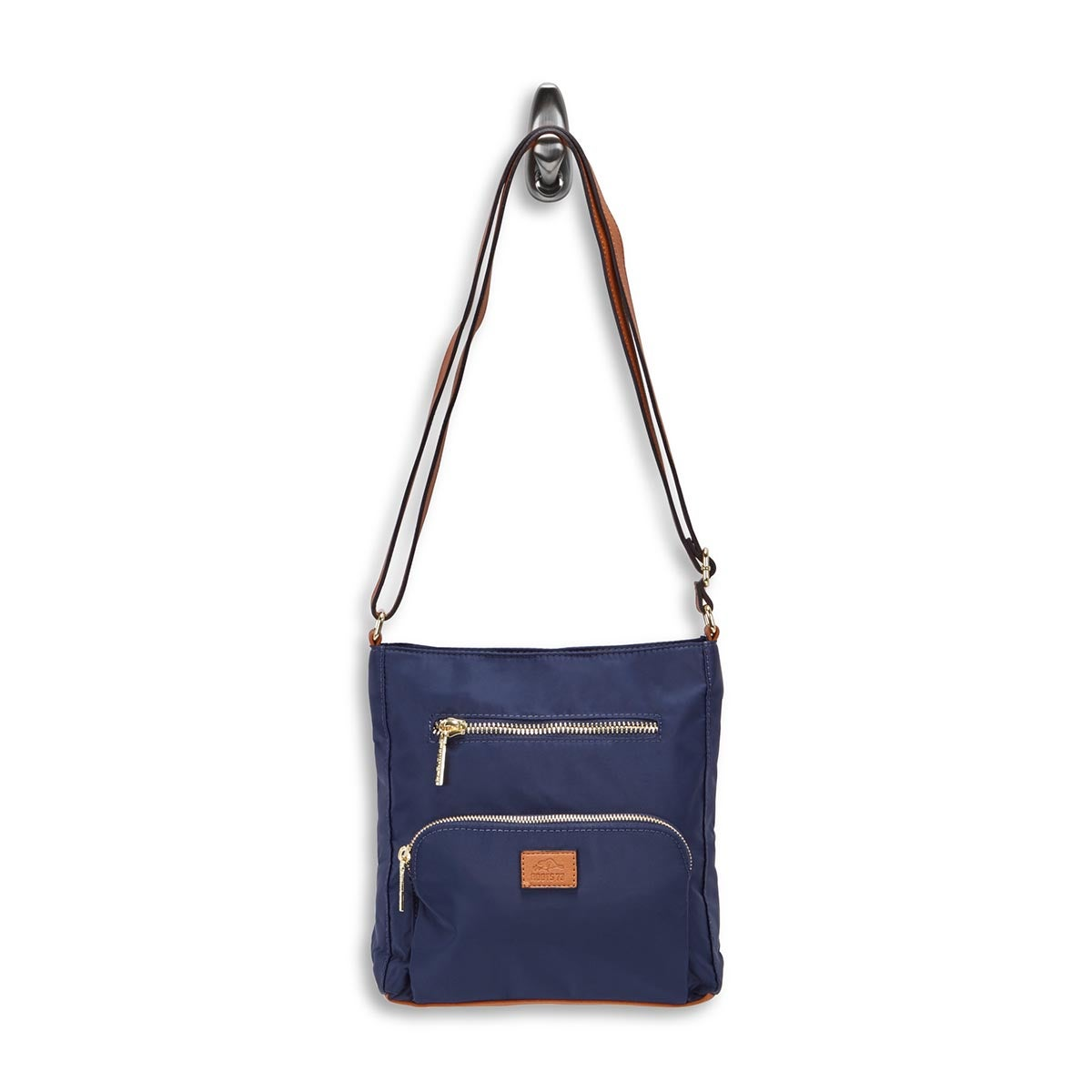 Lds Roots73 nvy 2 front pocket crossbody