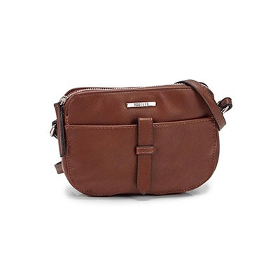 Roots Women's R5356 cognac mini crossbody bag