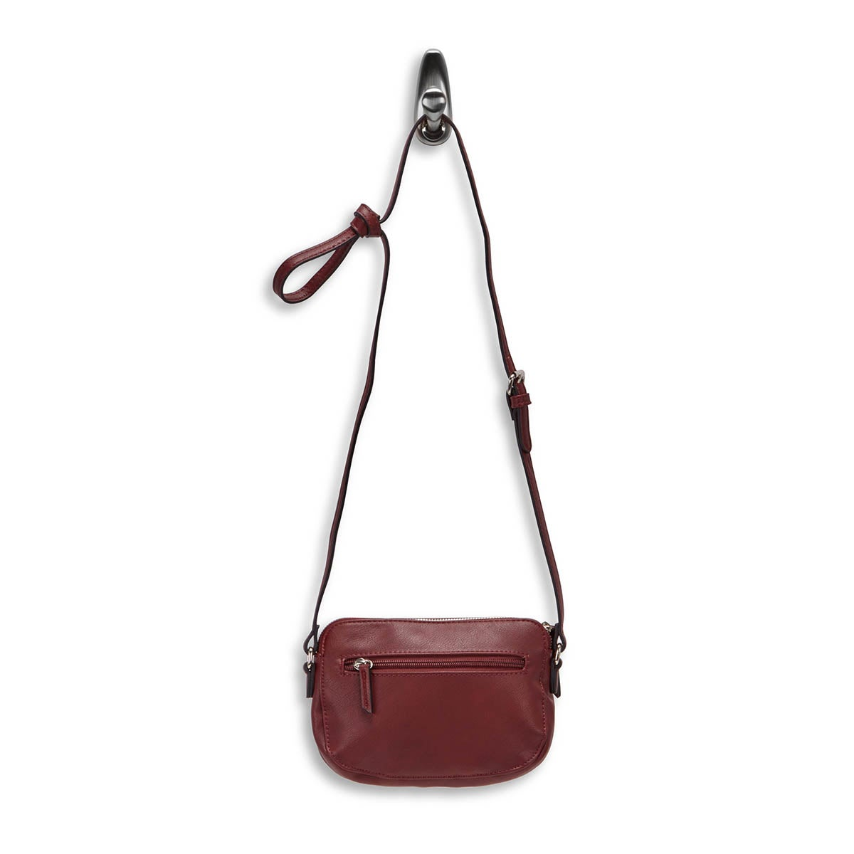 Lds red mini cross body w/front pocket