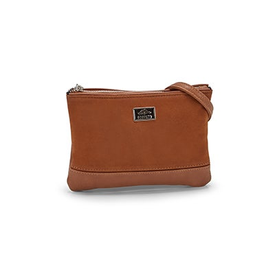 Roots Women's R5357 cognac crossbody bag