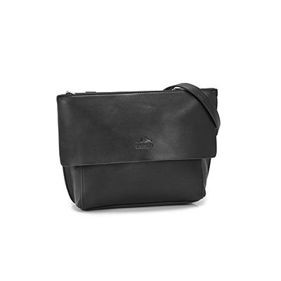 Roots Women`s R5368 black flap cross body bag