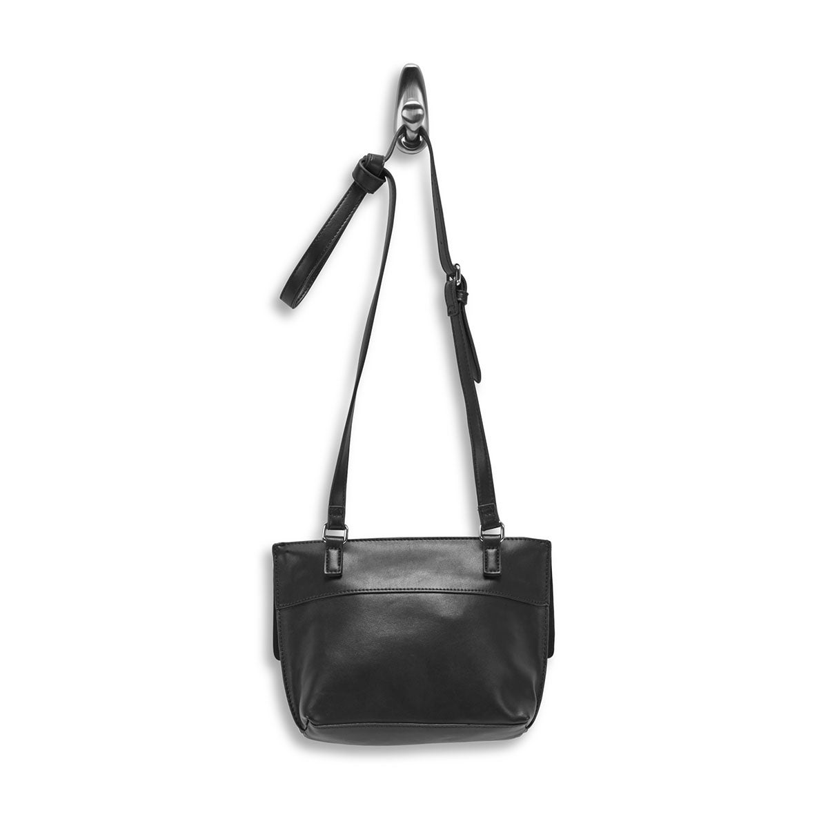 Lds Roots73 black flap crossbody bag