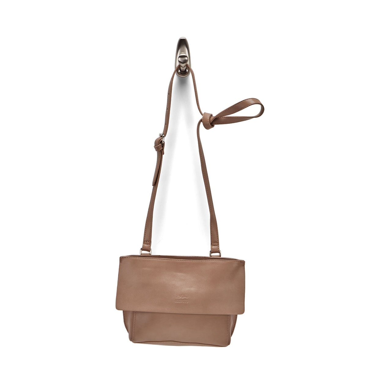 Lds Roots73 taupe flap crossbody bag
