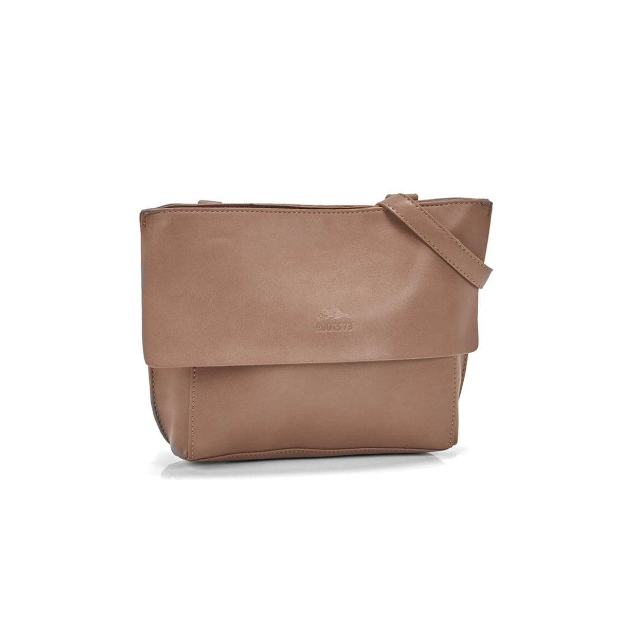 Women`s R5368 taupe flap cross body bag