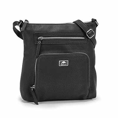 Roots Women's R5387 black NORTH/SOUTH crossbody bag