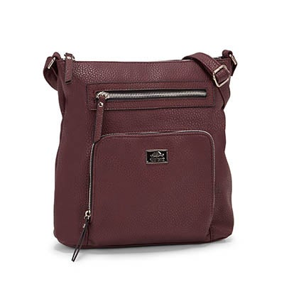 Roots Women's R5387 bordeaux NORTH/SOUTH crossbody bag