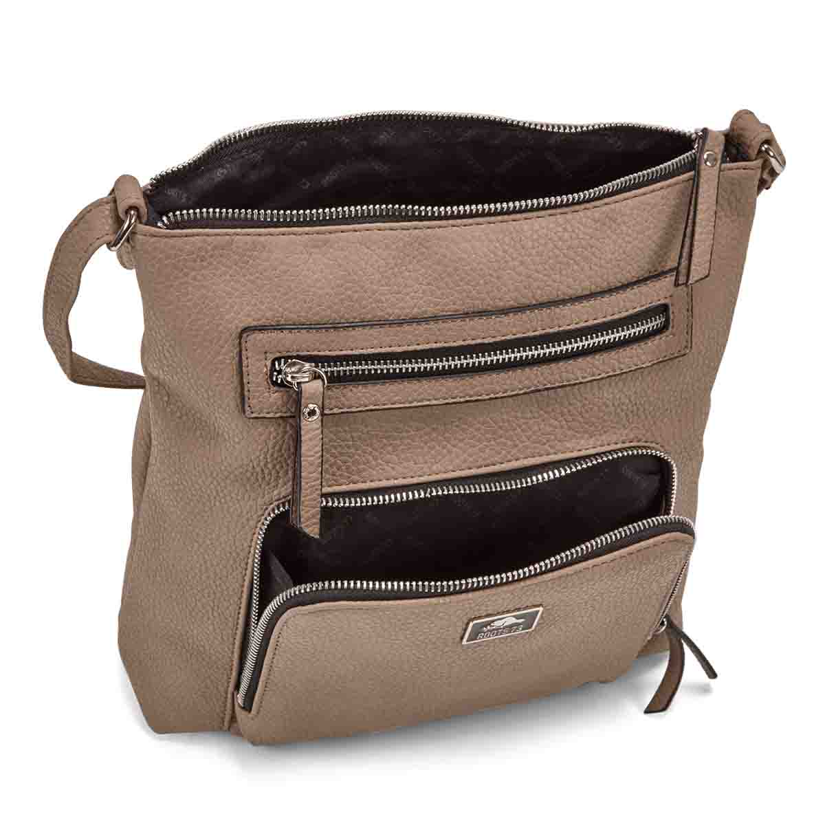 Lds Roots73 taupe north/south cross body