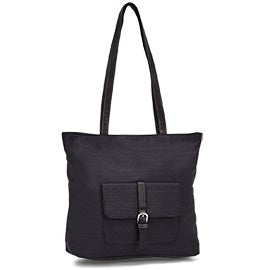 Roots Women's R5404 black large tote bag