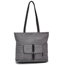 Roots Women's R5404 grey large tote bag