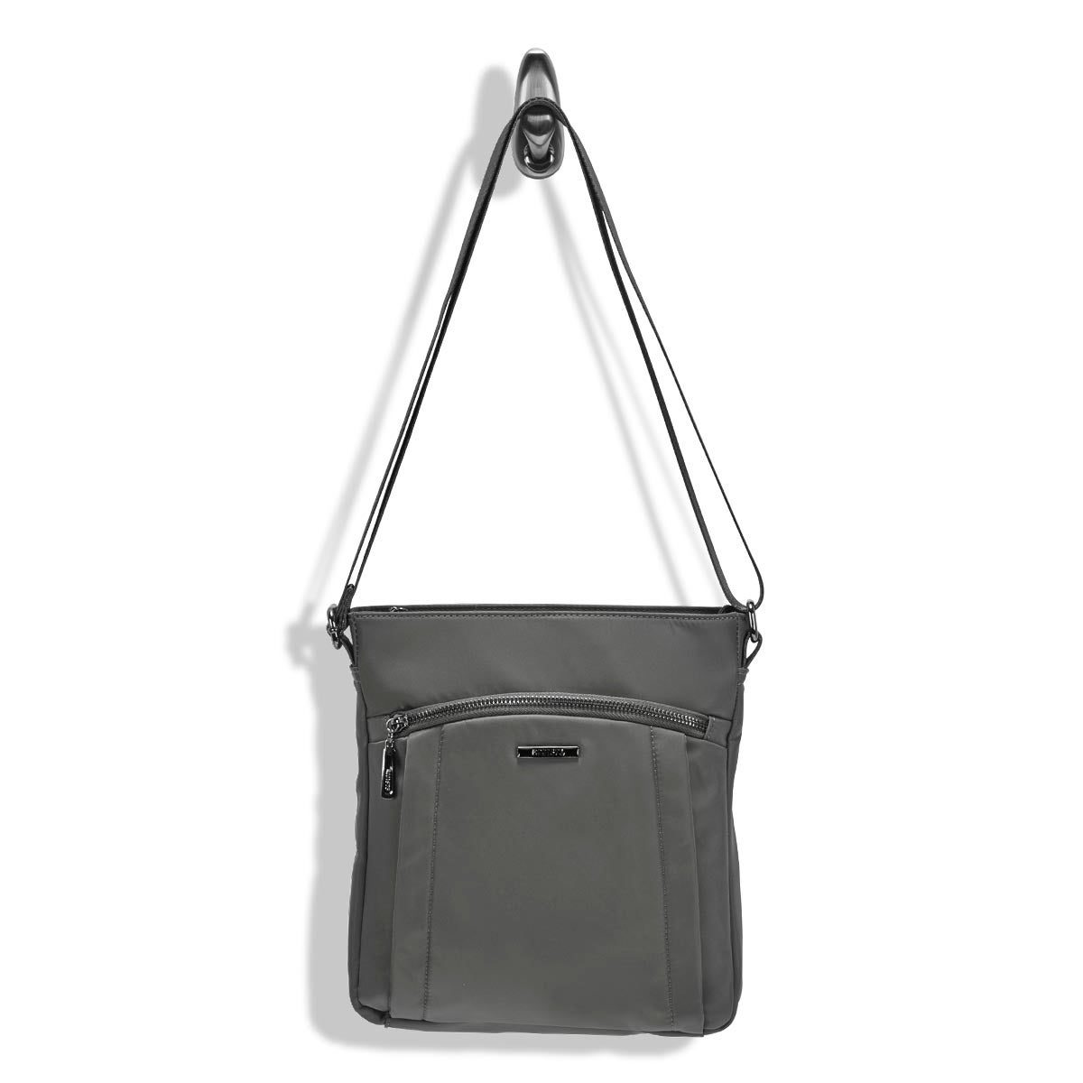 Lds Roots73 grey north/south cross body