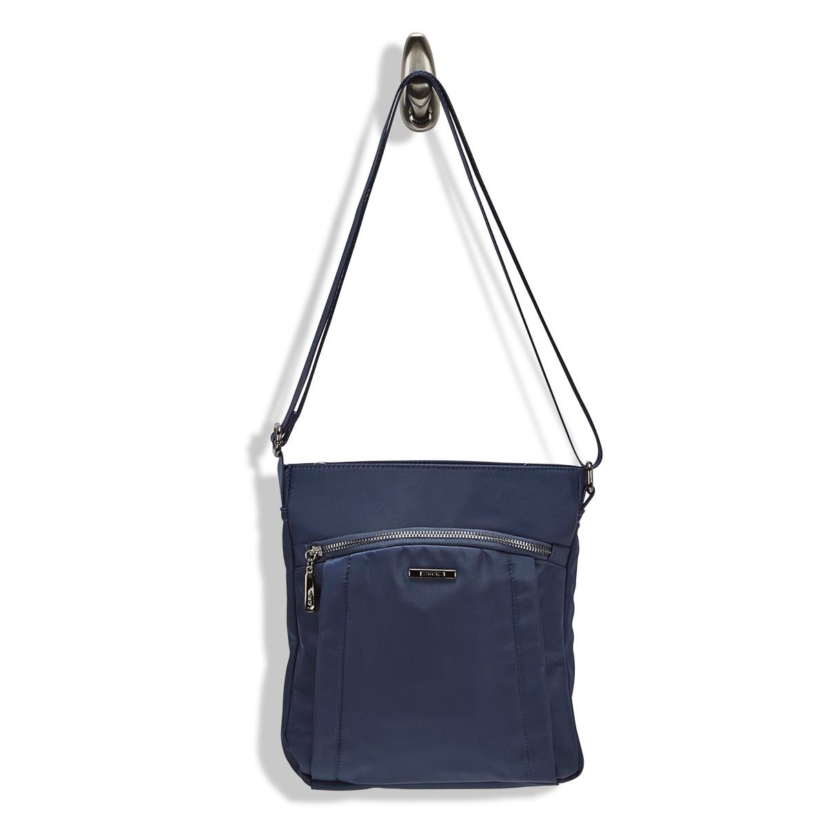 Lds Roots73 navy north/south cross body