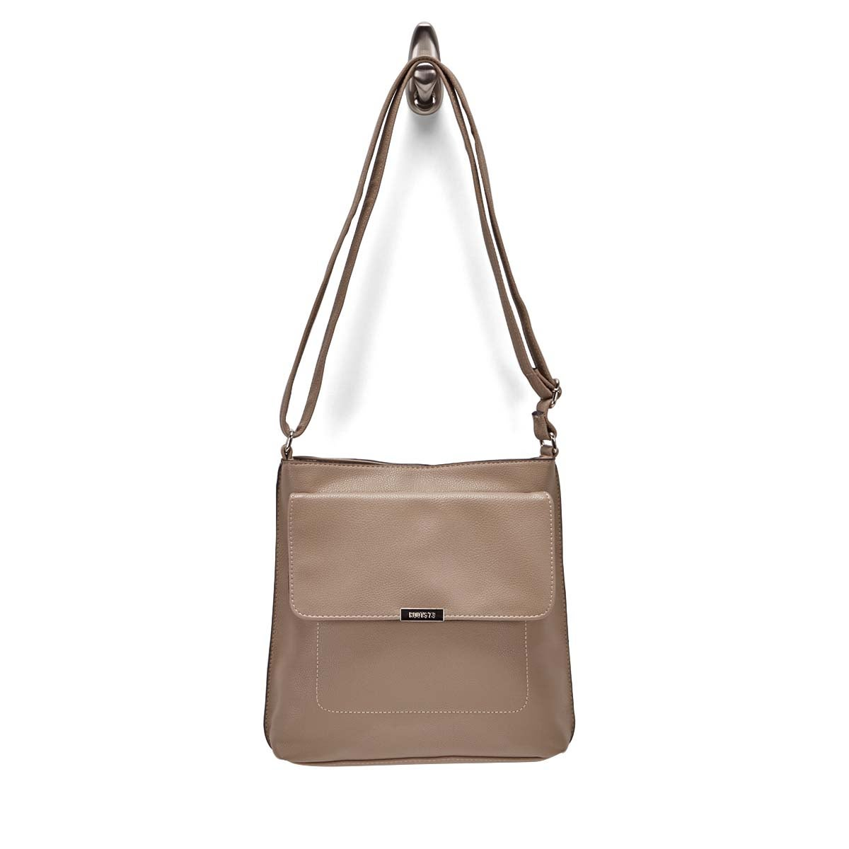Lds Roots73 taupe front flap crossbody