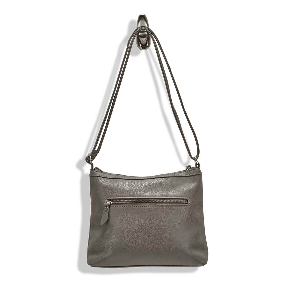 Lds Roots73 gry stiched pocket crossbody