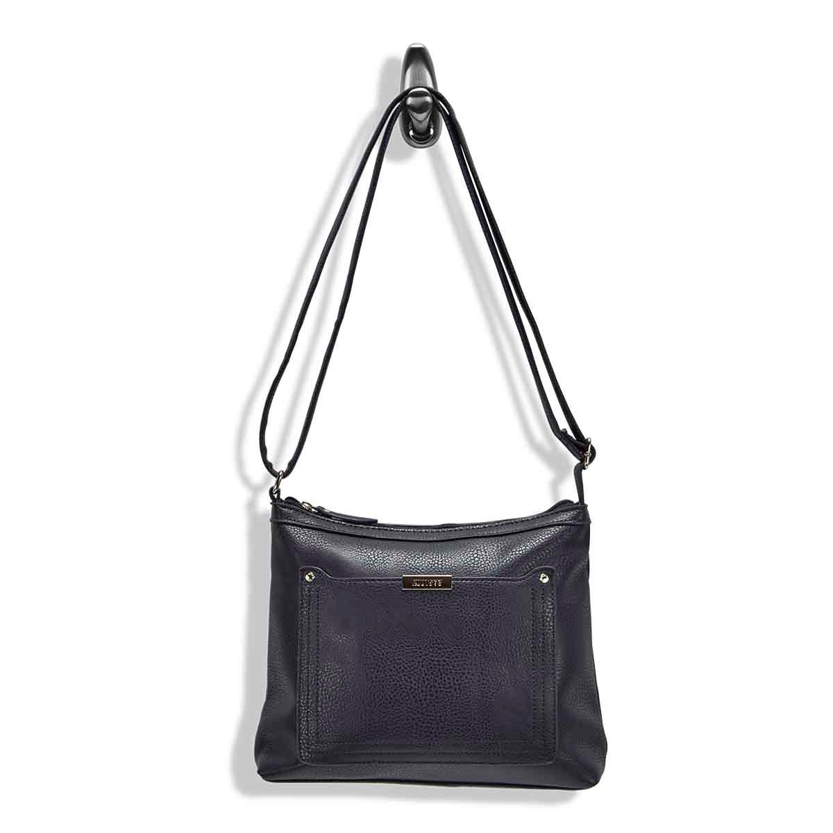 Lds Roots73 nvy stiched pocket crossbody