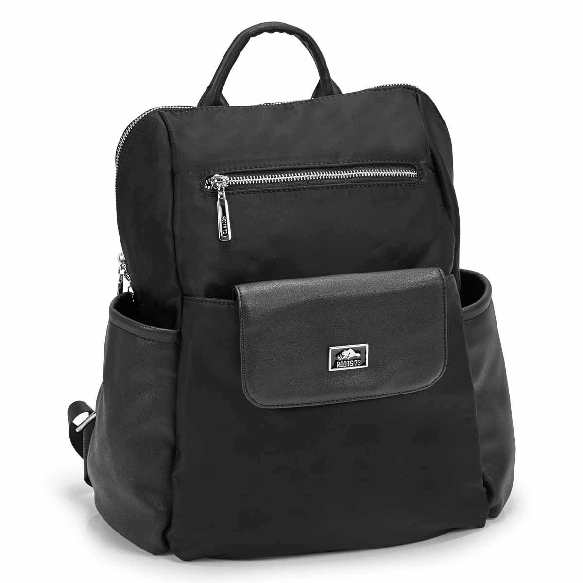 Women's R5454 black 2 in 1 backpack