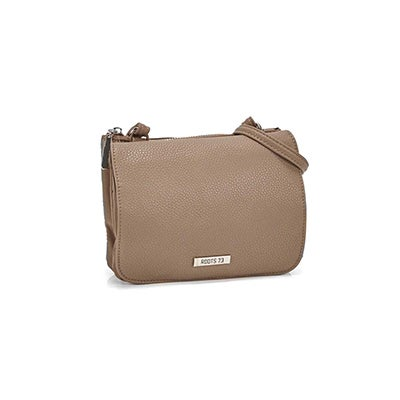 Roots Women`s R5456 taupe mini crossbody bag