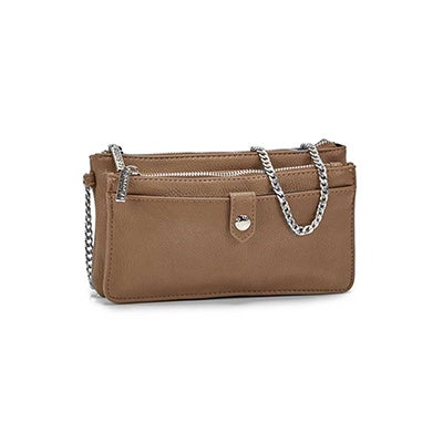 Roots Women's R5464 mocha mini shoulder bag