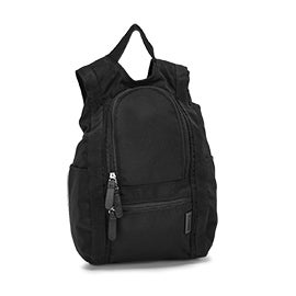 Roots73 black small reversible backpack