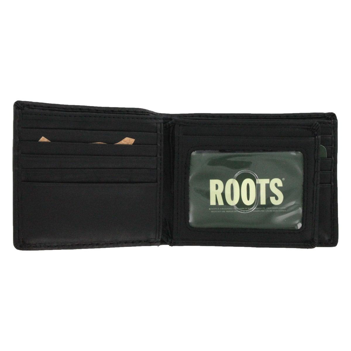 Mns Roots73 R552-4 blk slim-fold wallet