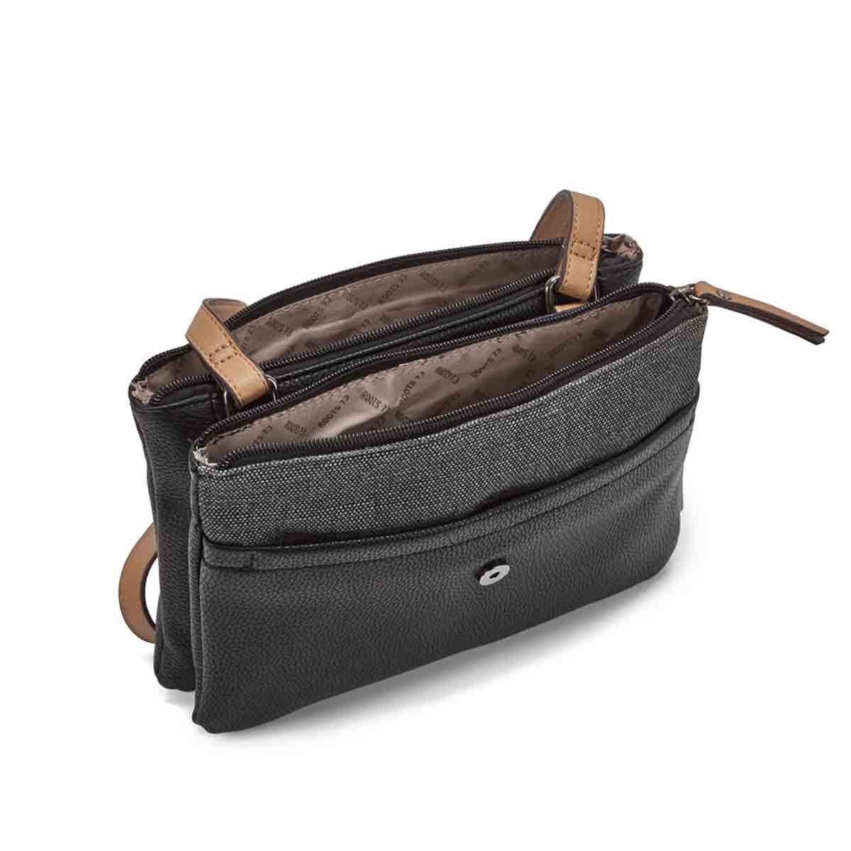 Lds black east/west crossbody bag