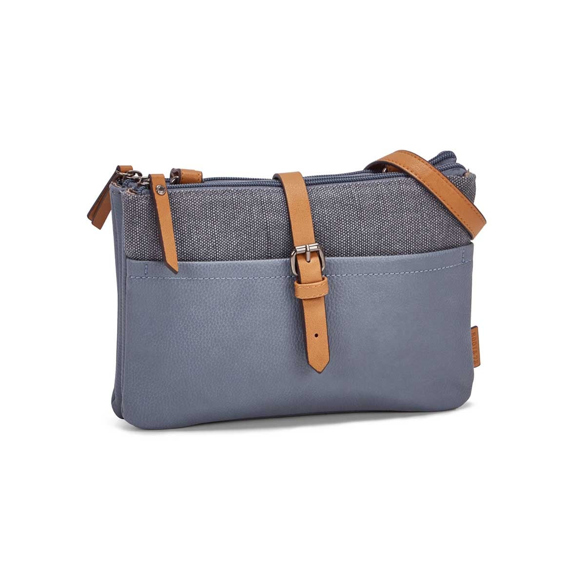 Women's R5529 light blue EAST/WEST crossbody bag