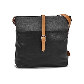 Roots Women's R5530 NORTH/SOUTH black crossbody bag
