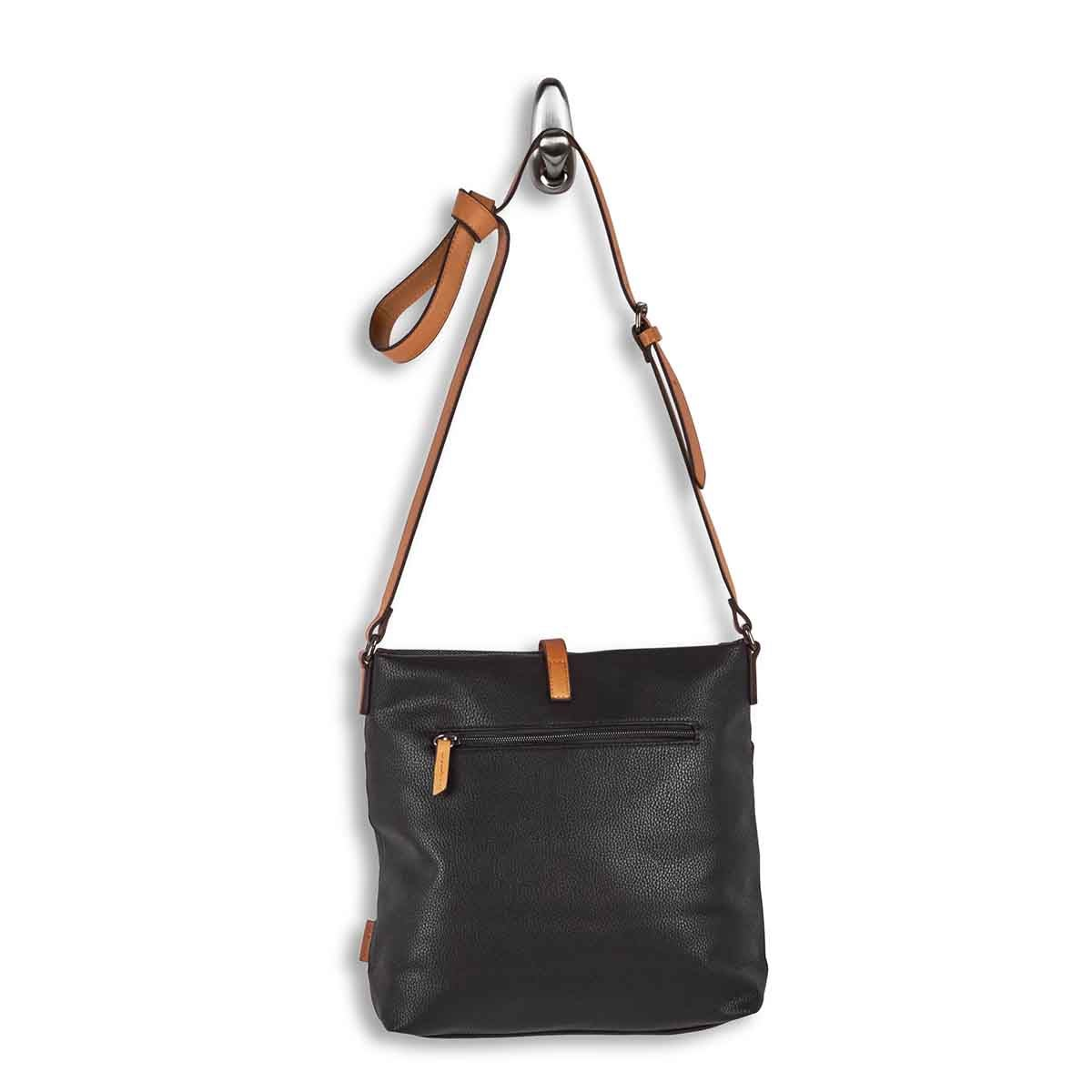 Lds black north/south crossbody bag
