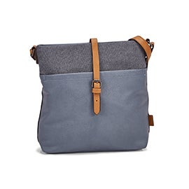 Roots Women's R5530 NORTH/SOUTH light blue crossbody bag