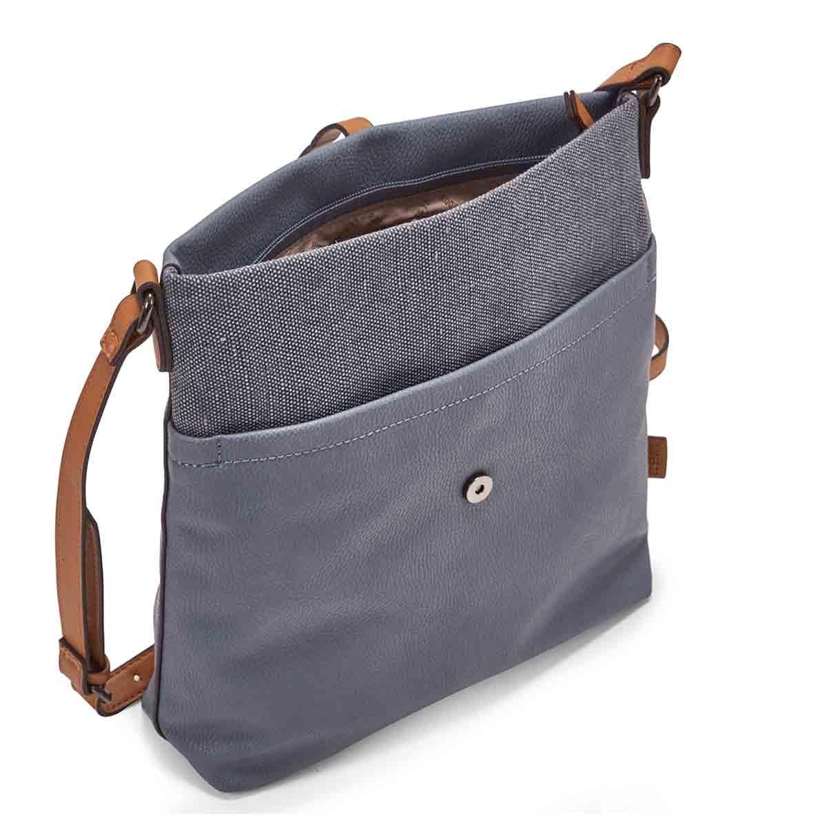 Lds light blue north/south crossbody bag