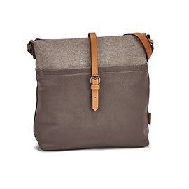 Roots Women's R5530 NORTH/SOUTH taupe crossbody bag