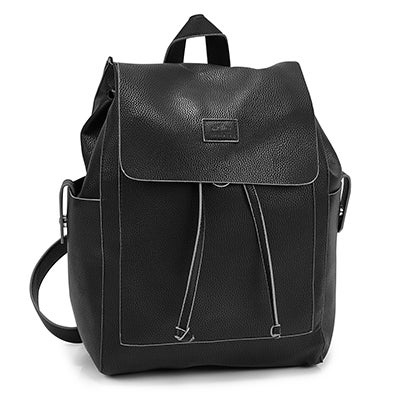 Roots Women's R5545 black draw string backpack