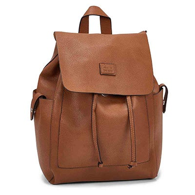 Roots Women's R5545 cognac draw string backpack
