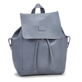 Roots Women's R5545 light blue draw string backpack