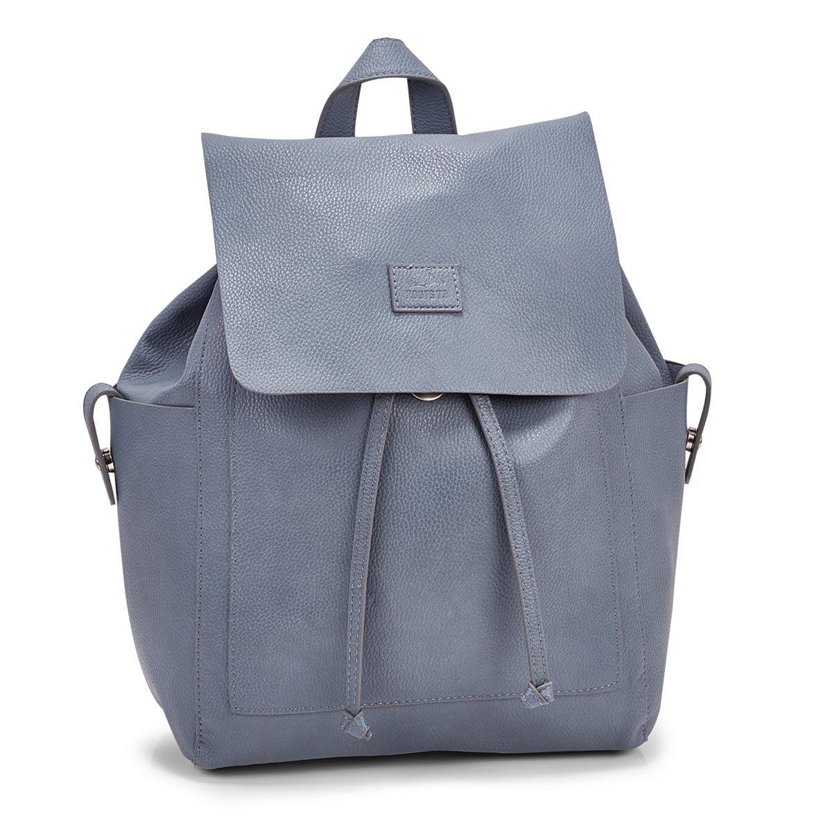 Women's R5545 light blue draw string backpack