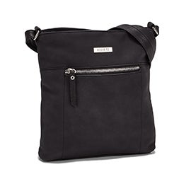 Roots Women's R5547 NORTH/SOUTH black crossbody bag